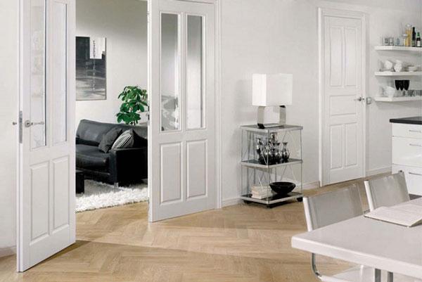Các mẫu cửa gỗ công nghiệp màu trắng tiêu biểu của Huge – Austdoor