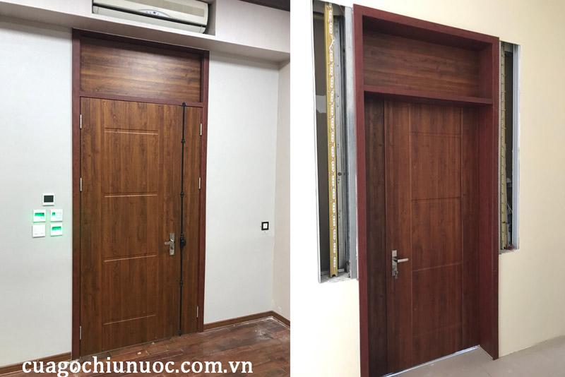 Lắp cửa gỗ công nghiệp tại Hà Nội cho căn hộ tại chung cư Thống Nhất Complex 82 Nguyễn Tuân