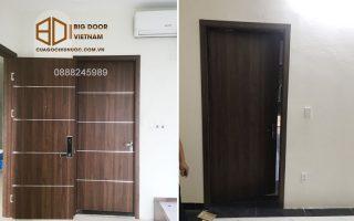 Lắp đặt cửa gỗ nhựa composite cho Khách sạn Việt Phương tại Ninh Bình