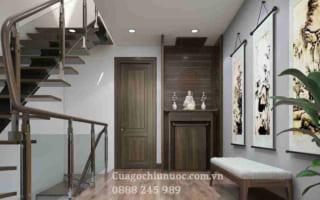 Top 15 mẫu cửa gỗ công nghiệp đẹp cho nhà phố