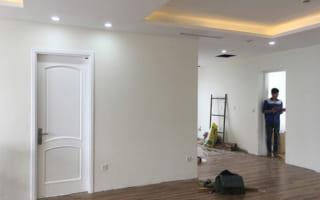 Lắp đặt cửa gỗ công nghiệp chịu nước cho căn hộ chung cư The TWO Residence