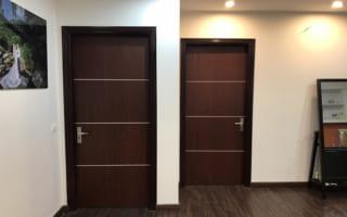 Thi công lắp đặt cửa gỗ composite cho căn hộ The Manor Mỹ Đình