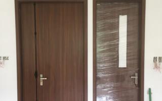 Lắp đặt cửa gỗ công nghiệp cho phòng ngủ – nhà tắm ở chung cư Seasons Avenue