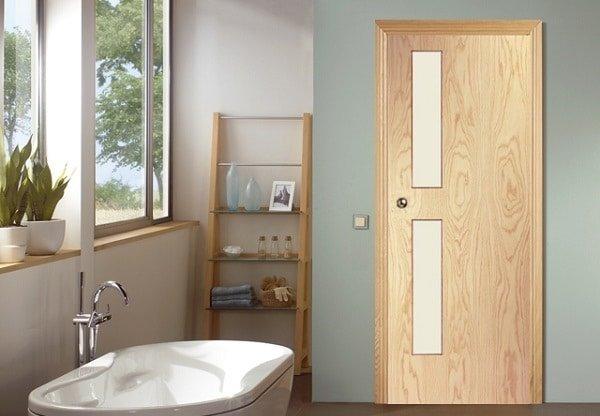Những lưu ý khi chọn cửa gỗ phòng tắm, vệ sinh, WC